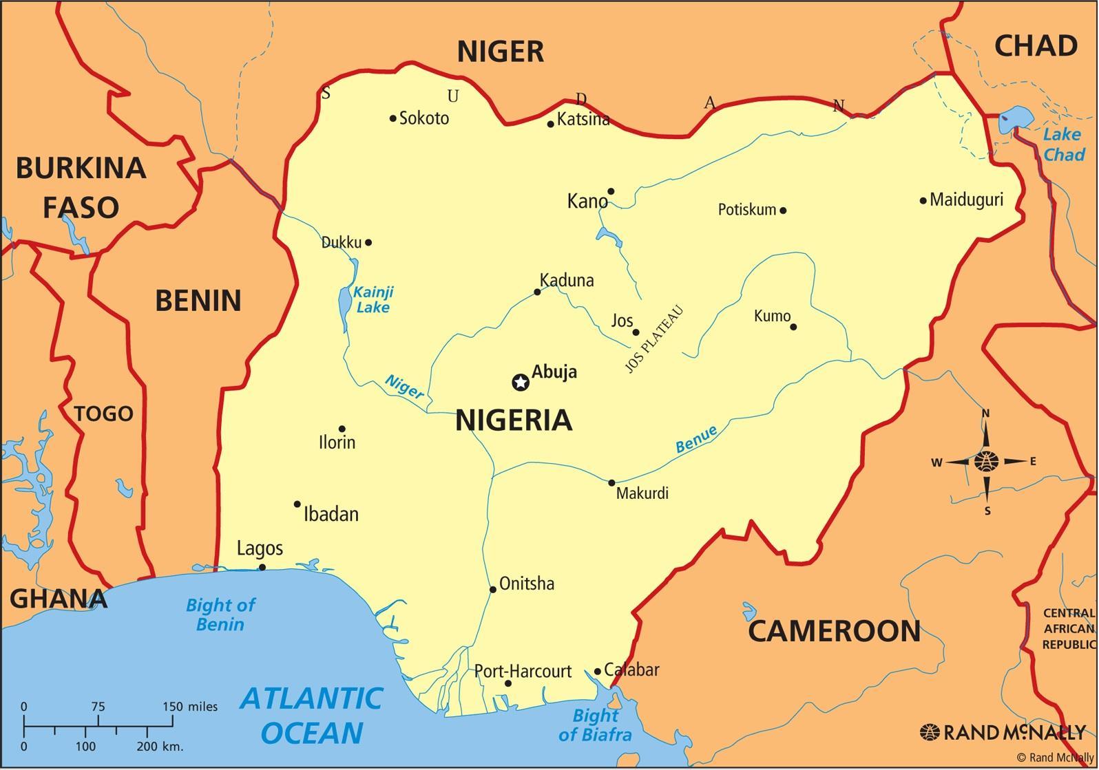 Carte Afrique Nigeria.Nigeria Map Carte Du Nigeria Afrique De L Ouest Afrique